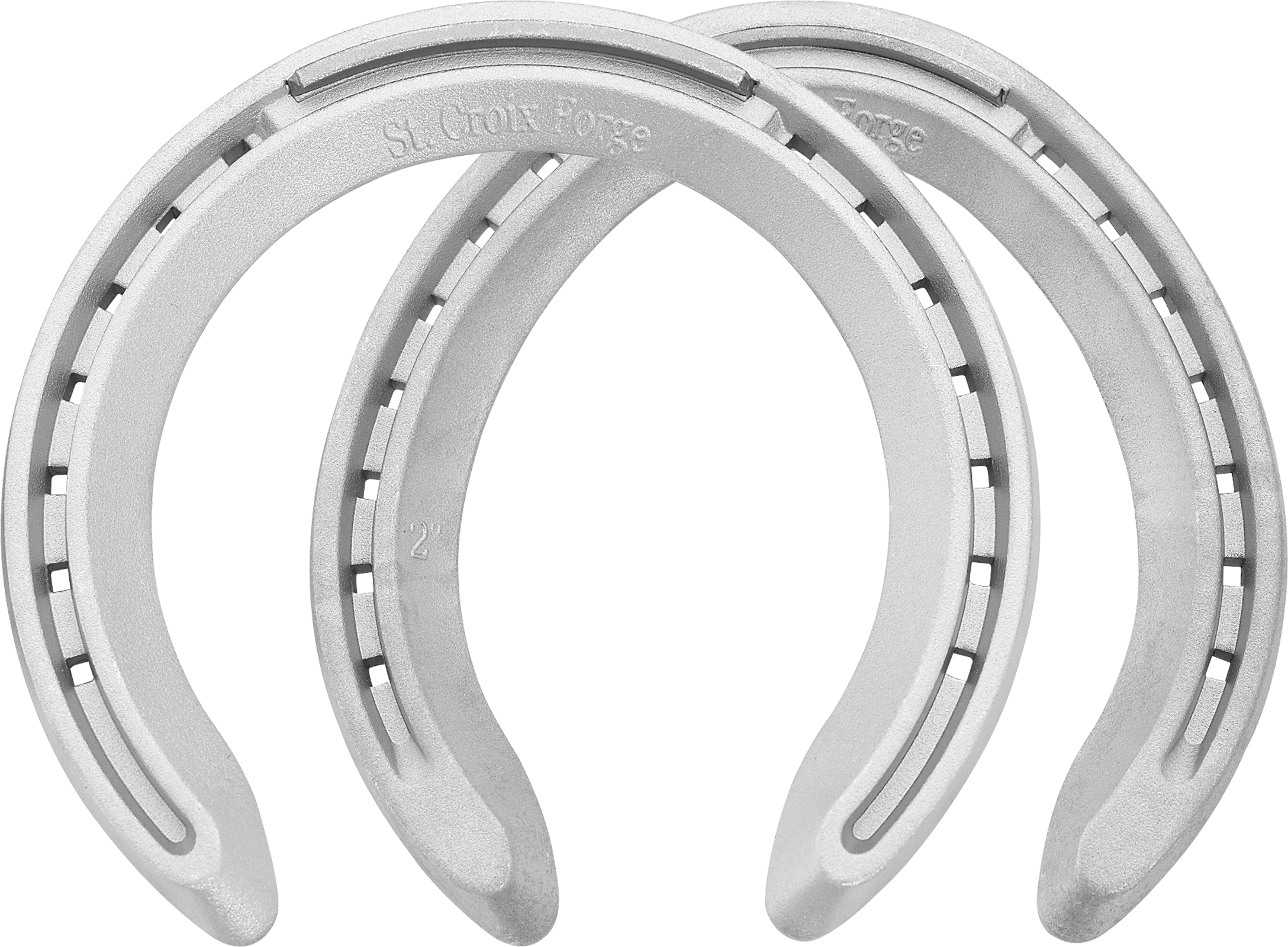 St. Croix Concorde XLT horseshoes, front and hind, bottom view