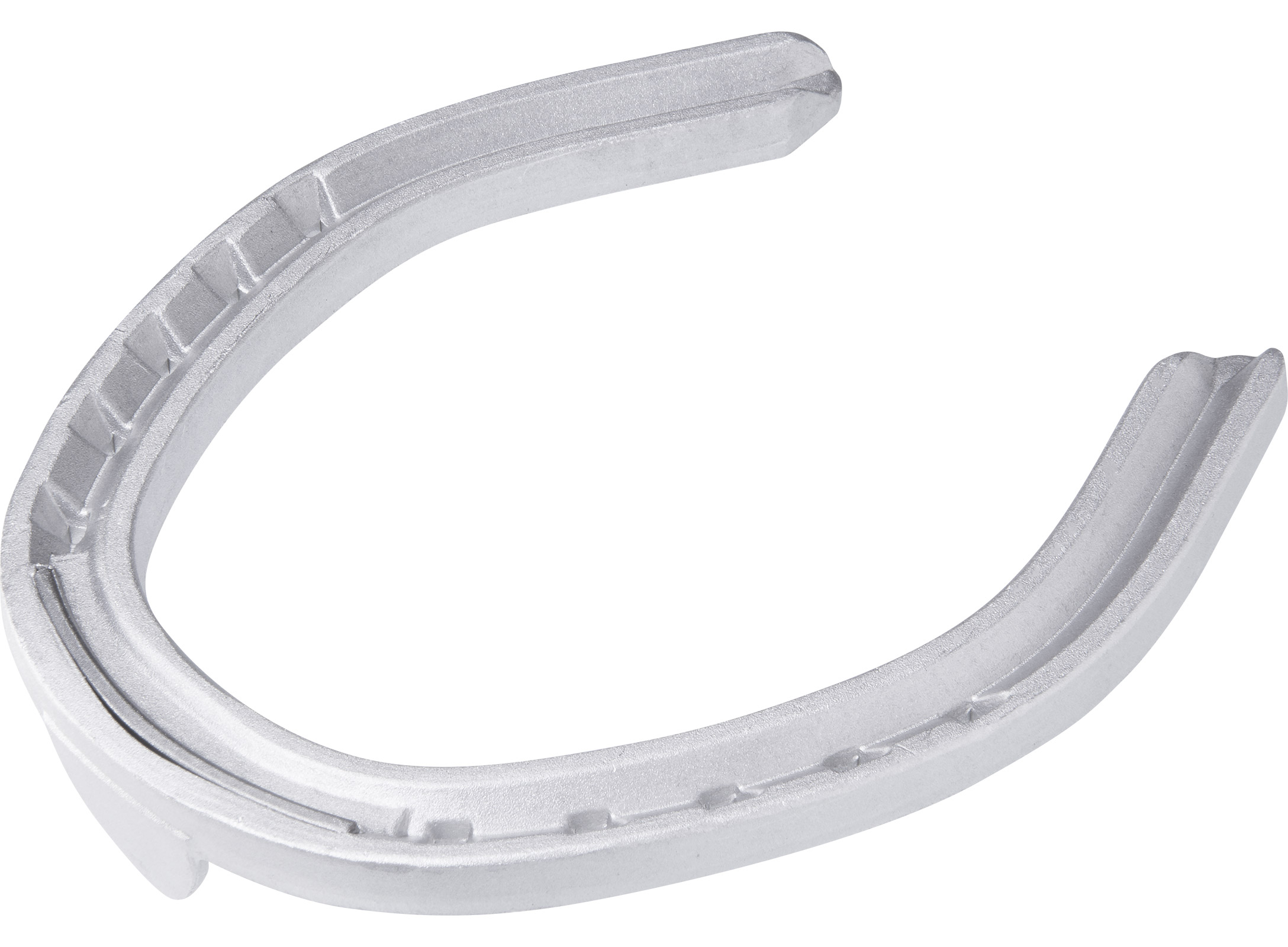 St. Croix Fullered Aluminium horseshoes, bottom side view