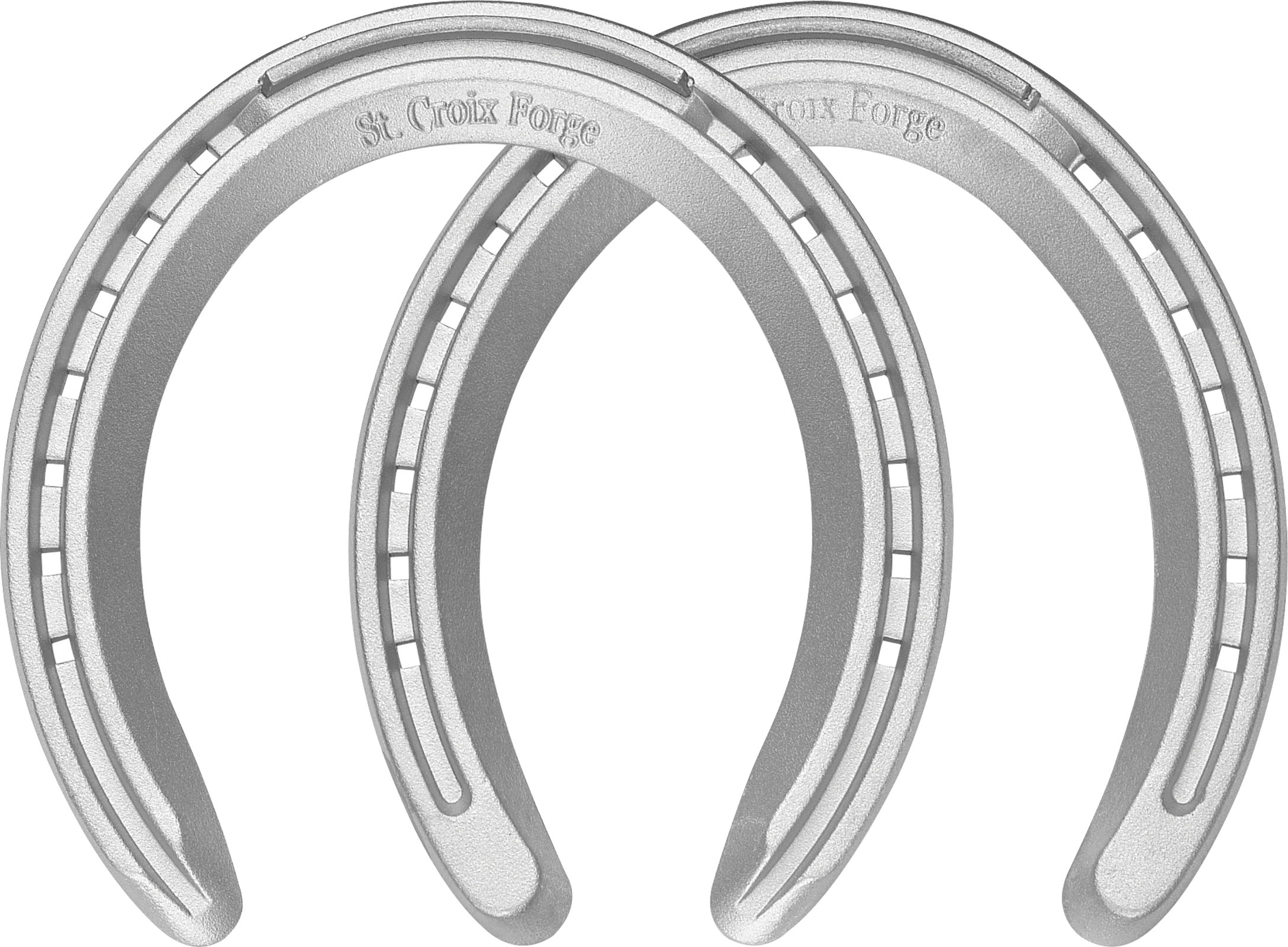 St. Croix XLT horseshoes, front and hind, bottom view