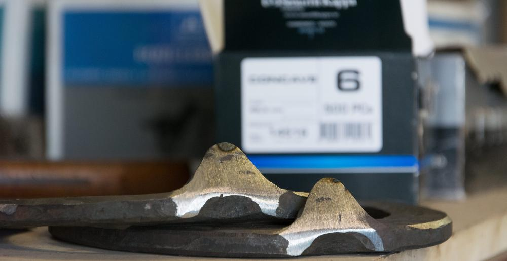 Mustad LiBero shoes prepared for shoeing a Frisian Horse by Douwe Dokter