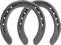 St.Croix Eventer Plus Steel horseshoes, front and hind, bottom view