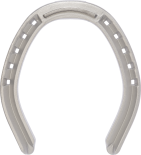 St. Croix Fullered aluminium Toe Grab 3mm horseshoe, bottom view