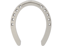 St. Croix Plain Aluminium horseshoe, front, bottom view