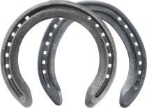St. Croix Concorde Extra steel horseshoes, front and hide, bottom view