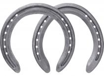 St. Croix Concorde Steel horseshoes, front and hind, bottom side view
