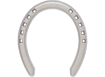 St. Croix Halfround Aluminium horseshoe, front, bottom view
