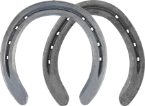 St. Croix Surefit Rim horseshoes, front and hind, bottom view