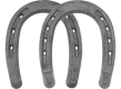 St. Croix Mule and Mule Heeled horseshoes, bottom view